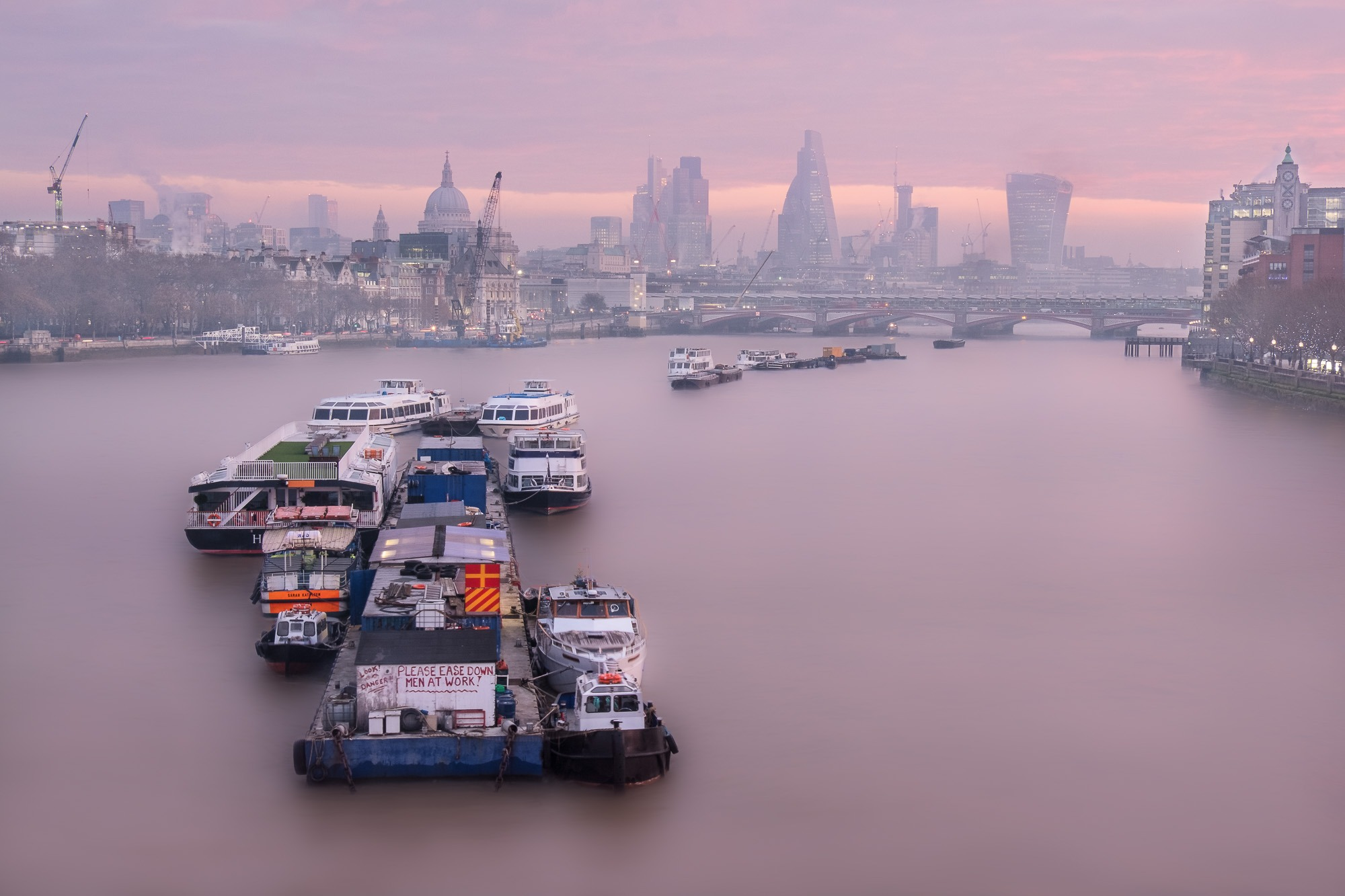 Dawn Over The Thames